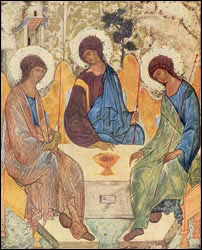 The Trinity. Andrei Rublev (1370-1430). Moscow.