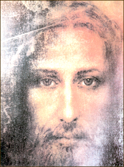 The earthly visage of Christ, reconstructed from the Shroud of Turin