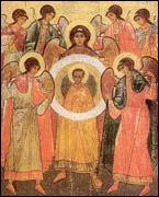 Synaxis of the holy Angels. 15th century. Moscow school.