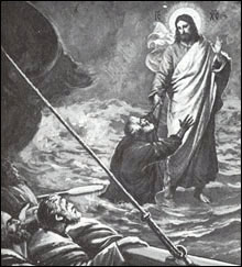 The drowning Apostle Peter.