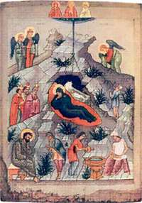Nativity of Christ.  Novgorod.  14th century.