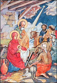 The shepherds worship the Infant Christ