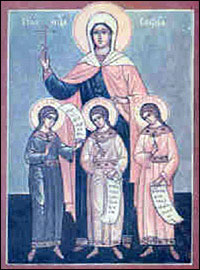 Holy martyrs Faith, Hope, Charity and Sophia