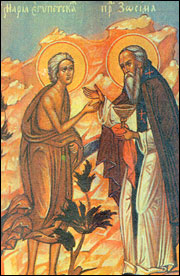 St. Mary of Egypt and Abba Zosimas