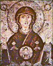 "The icon of the Mother of God  ""Of the Sign""  ."